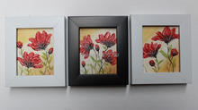 NEW 100% hand-painted Home decoration painting oil painting on Small thin board Match framework  high quality  flowers DM-928024