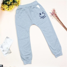 TANGUOANT Free Shipping Hot Sale Children cotton pants Boys Girls Casual Pants 2 Colors Kids Sports trousers Harem pants