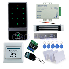 RFID door metal access controller with touch screen digital keypad+180KG magnetic lock+10pcs key cards for access control system