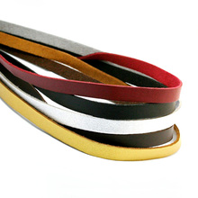 Black Red 100CM 8mm Flat Faux Suede Korean Velvet Leather Cord String Rope Thread Jewelry Findings for DIY Choker Necklace