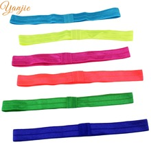 FOE 30colors 30pcs/lot Shimmery Solid Foe Elastic Baby Girl Headband Children Hairbands Hair Accessories Headwrap For Kids