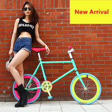 New Brand Fixed Bike 20 inch Wheel 50 cm Frame Rear Pedal Brake Mini Bicycle outdoor Sport BMX Bicicleta(China)
