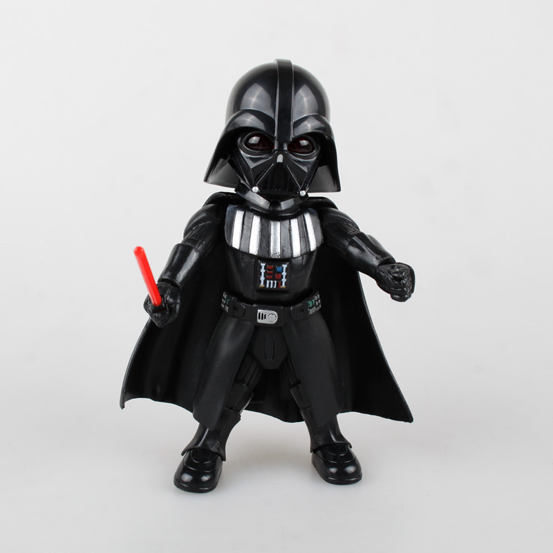 Star Wars Q Version Darth Vader with light PVC Action Figure Collectible Model Toy 14cm  KT1811<br><br>Aliexpress