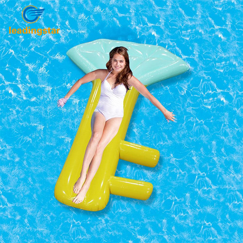 LeadingStar Creative Key Model Inflatable Pool Float Giant Blue Ride-On Ring Women Water Holiday Toys Lounger zk30(China)