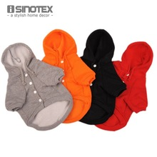 Casual Fleece Pet Clothes Sweatshirt Hoodie Small Dog Clothing Solid Cat Products Apparel Button Puppy 1 Piece Lot(China)