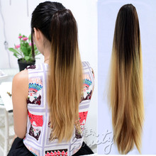 20 In 50cm Synthetic Long Straight Claw Clip False Ponytail natural Hair Extension Hair pieces Pony Tail Brown Black Light Brown
