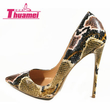 New Fashion 12cm Thin Heels Shoes Women Pumps Women's Shoes Platform Fashion Super High Heels Women Shoes Green #Y0709958F(China)