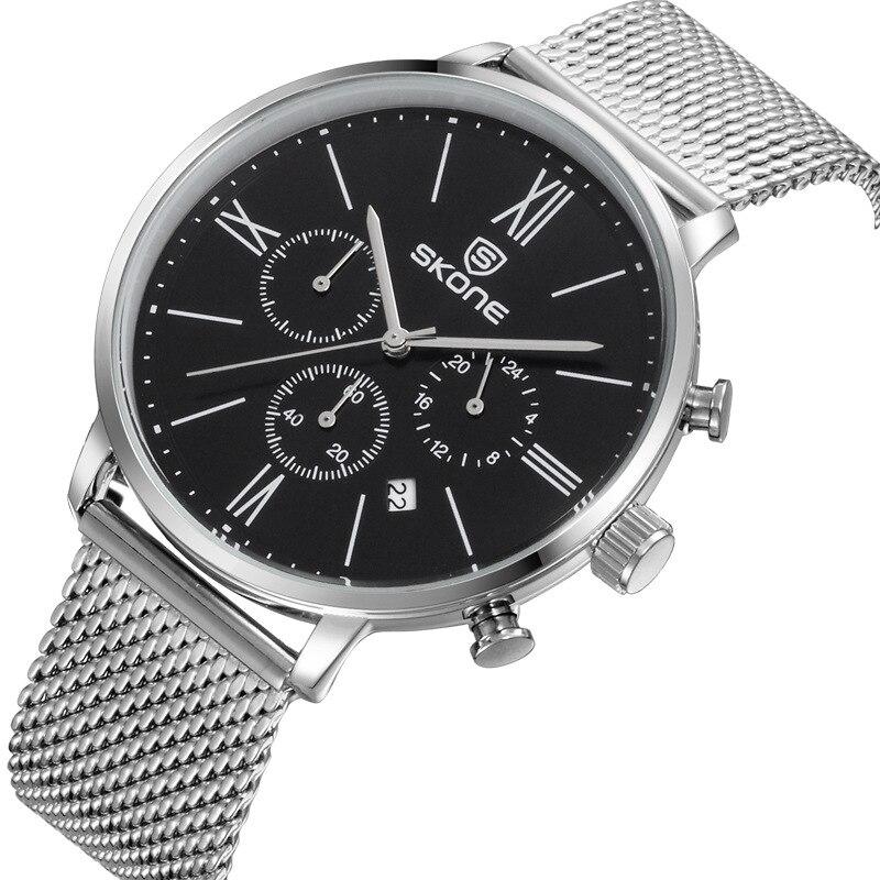 Man watches Design! Men Full Steel Strap SKONE Watches Men Casual Sports Watches Fashion Quartz Wristwatches Relogio Masculino<br><br>Aliexpress