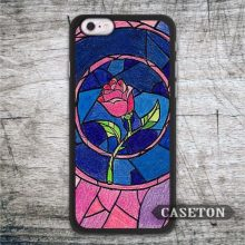 Stained Glass Rose Case For iPhone 7 6 6s Plus 5 5s SE 5c and For iPod 5 High Quality Lovely Beauty And The Beast  Phone Cover