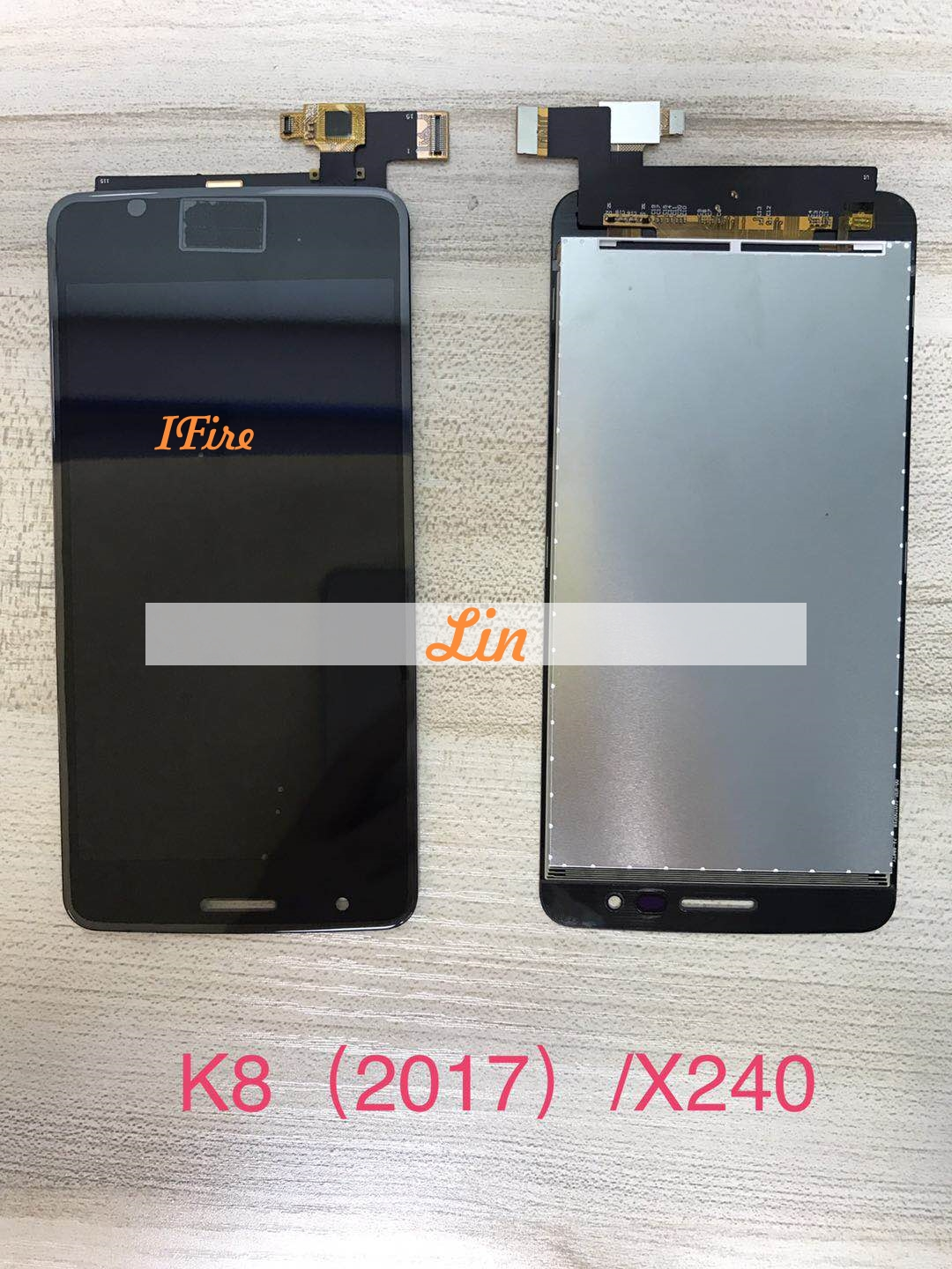 1PCS IFire X240 LCD touch LG K8 2017 X240 LCD Display Screen Assembly Touch Sensor Digitizer free tools