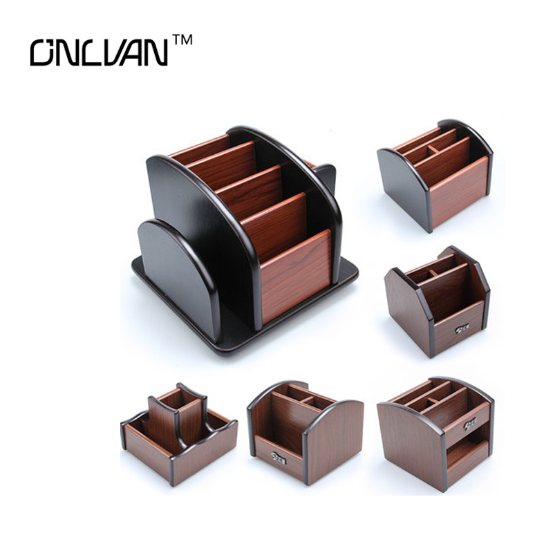 2017 High Quality Pen holder Wooden Office Supply High Quality Office Desk Accessories Wooden Office Organizer 8 Style to Choose(China (Mainland))