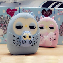 2016 Newest Double USB 15000mah Cute Cartoon Owl Power Bank with Fan mobile phone charger Backup powers for all smartphones