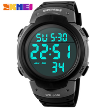 Sports Watches Mens Digital Stopwatch Alarm 50m Waterproof Dive Swim Watch Reloj Hombre SKMEI LED Military Army Sport Watch