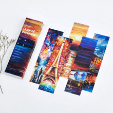 "30 pcs/box ""Color of the world"" cartoon bookmark escolar paper bookmarks stationery zakka school supplie papelaria"