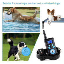500M Pet Dog Training Collar Electric Shock Vibration Light Word Command Dog Training Device Trainer Remote Control Waterproof