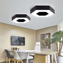 Led ceiling lights hexagonal bedroom livingroom balcony office study meetting room dining room ceiling lamp led lighting indoor