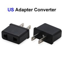 500pcs EU AU To US USA Plug Adapter Australia European To America Universal AC Travel Power Adapter Converter Outlet