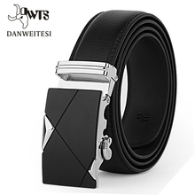 [DWTS]Designer Leather Strap Male Belt Automatic Buckle Belts For Men Girdle Wide Men Belt Waistband ceinture cinto masculino(China)
