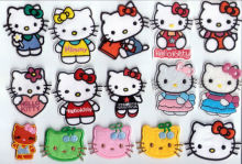 Free shipping,wholesale hello kitty iron on patches,hello kitty applique,Min order,Gifts for kids,girls,boys,ladies~lovely & new