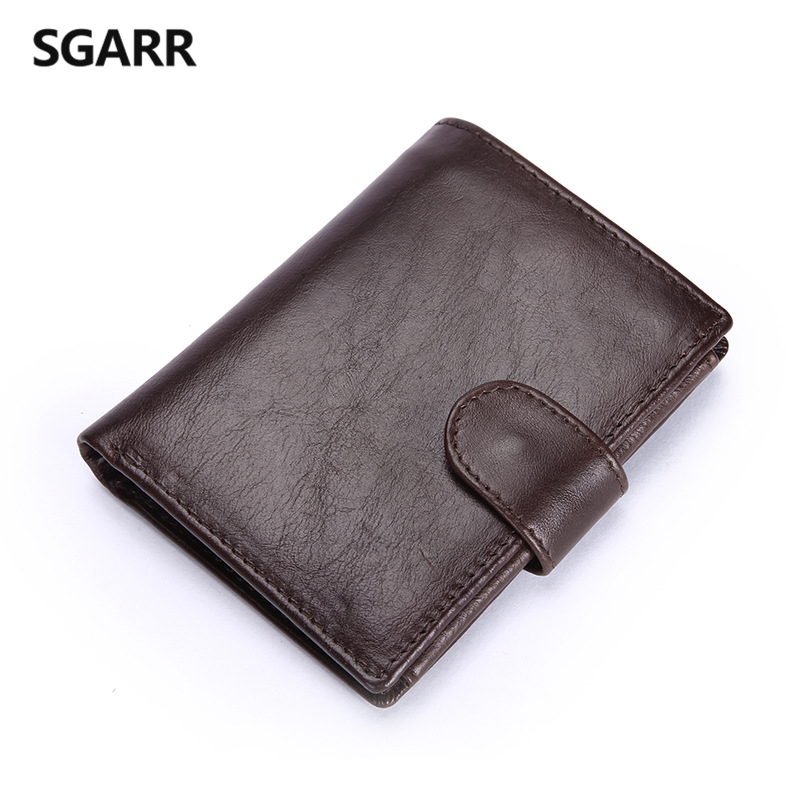Crazy Horse Genuine Leather Men Wallet Man Short Purse Hasp Wallet Coin Purse Pockets Famous Brands Mini Small Male Wallet<br><br>Aliexpress
