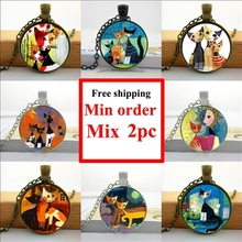 2016 Rosina Wachtmeister Cats Necklace Wonderland Cats Jewelry Girls Glass Cabochon Necklace HZ1