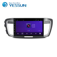 Car Android Media Player System For Honda Accord 9 2014-2016 Autoradio Car Radio Stereo GPS Navigation Multimedia Audio Video(China)