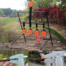 5-Plate Reset Shooting Target Tactical Metal Steel Slingshot BB gun Airsoft Paintball Archery Hunting Outdoor&Indoor(China)