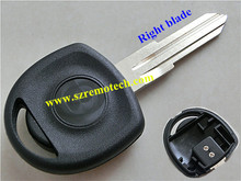 Opel transponder key blank with right blade