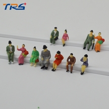 1:87 HO scale model train figures all sitting ho scale model passenger figures