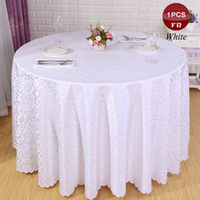 Free Ship1PC Seamless Polyester Tablecloth Jacquard Table Cloth Square Round Home Hotel Wedding Table Cover Decor Toalha De Mesa
