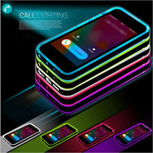 New Cheap TPU+PC LED Flash Light Up Case Remind Incoming Call Cover for iPhone 5 5s SE 6 6S 7 Plus  free DHL shipping