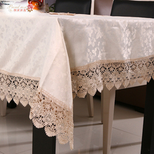 1 Piece Silks and Satins Water Soluble Lace Pure Color Table Cloth/ European Embroidery Tea Table Cloth/ Lace Round Table Cloth