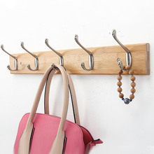 Creative Bedroom Wall Bamboo Hanging Hook Hanger European-style Hanging Clothes Racks Hook Sitting Room Accessories(China)