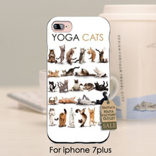 soft black tpu silicone  Popular Interesting Yoga Cats Novelty Fundas Phone Case Cover For iPhone se 5s 6s 7 plus 7 plus case