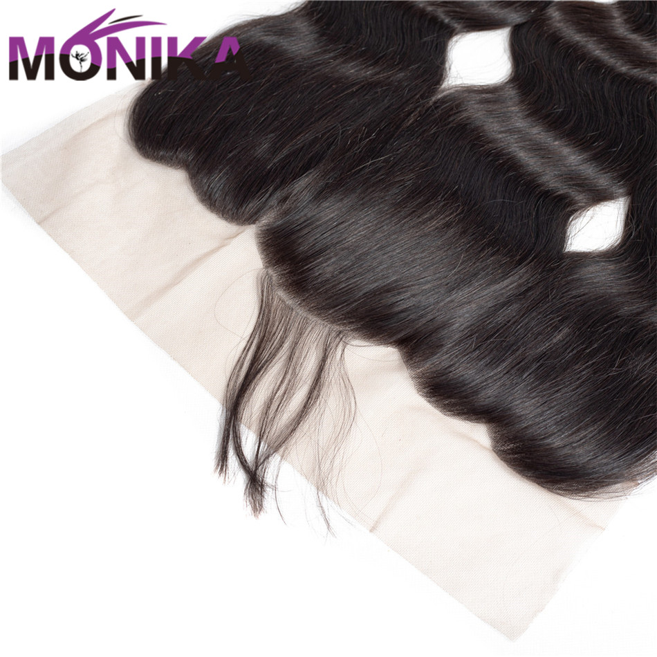 Monika Hair Brazilian Body Wave Lace Frontal FreeMiddle Part Ear to Ear Human Hair Lace Closure Non Remy 13x4 Full Lace Frontal (3)