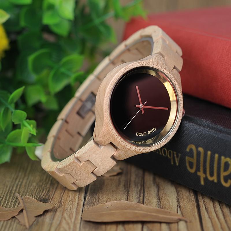 ساعة يد نسائية BOBO BIRD الخشبية الاصلية 10