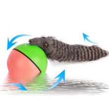 1 Pcs Novelty Gag Entertainment Toys Creative Beaver Weasel Rolling Motor Ball Pet Cat Dog Kids Chaser Jumping Fun Moving Toy(China)