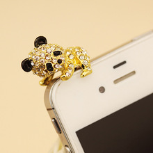 Fashion Style Cute Silly Little Bear Design Mobile Phone Ear Cap Dust Plug For Iphone For Samsung 3.5mm Earphone Dust Plug(China)