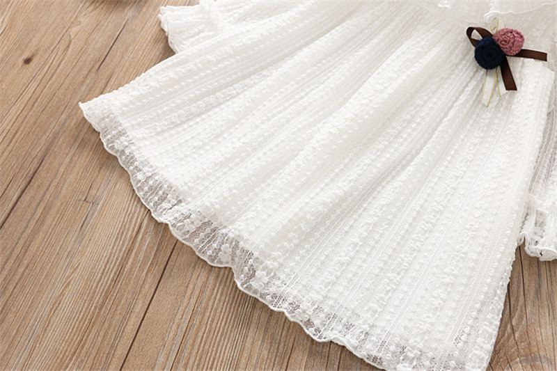 2-7 année filles robe 2018 printemps automne nouvelle mode fleur dentelle princesse robe enfant enfants robe filles vêtements filles vêtements 19