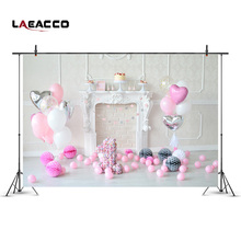 Buy Laeacco Fireplace Pink Balloons 1st Birthday Baby Photography Backdrops Vinyl Seamless Camera Backgrounds Photo Studio Props for $6.36 in AliExpress store