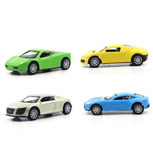 1:64 Alloy car model metallic material kids toys Sports car Four colors are available Back to power Wrestling Like a gift