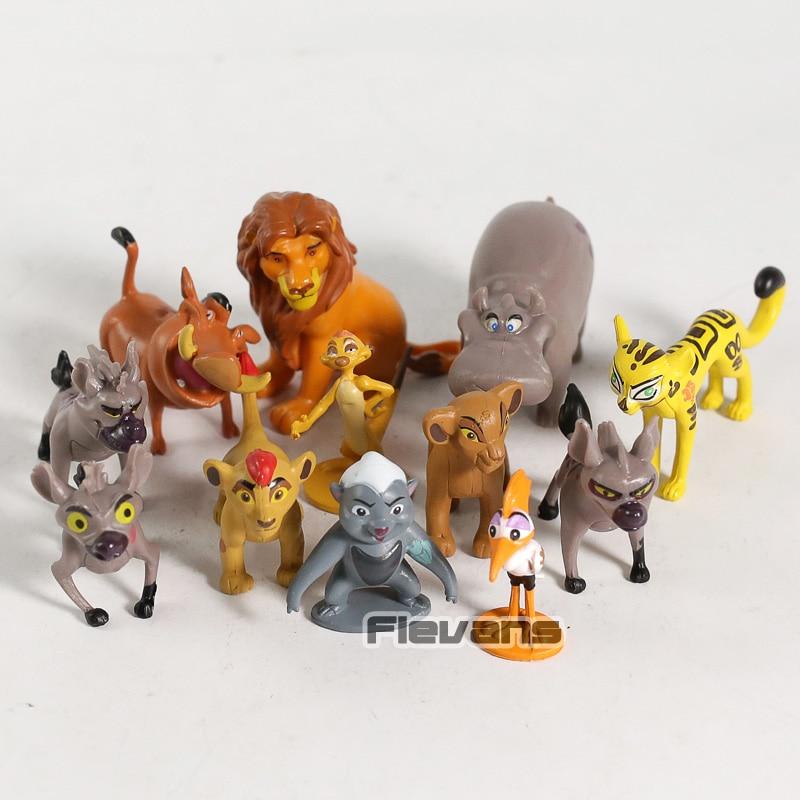 Ensemble Figurines Personnages Le Roi Lion Simba Mufasa Nala Hyènes Timon Pumba
