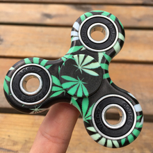 Green Leaves Printed Camouflage EDC Fidget Spinner Hand Spinner Anti Stress Autism ADHD Relieve Anxiety Finger Toys