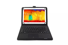 Detachable Wireless Bluetooth Keyboard With Touchpad+PU Leather Case Cover Stand for Motorola Xoom XOOM2 10.1