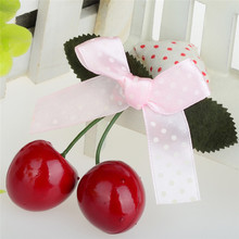 New Design Lovely Girls Sweet Cherry Cloth Bowknot Hairpin Clip Hair Female Party Popular Jewelry Decorations Accessory 7 Styles(China)