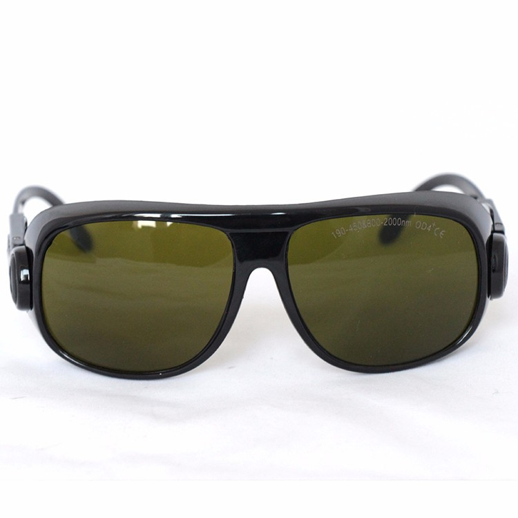 Laser safety glasses for 190-450nm&amp;800-2000nm 266nm,405-450nm 808 980 1064nm 1470nm to 1610nm O.D 4+ CE<br>