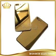 e8fd1dfd7090b 100% الكمال جودة فاخرة 24 كيلو الذهب الغطاء الخلفي للآيفون 8 جرام 8 زائد  الإسكان مرآة الذهب الهيكل الخلفي الباب مع شعار و أزرار