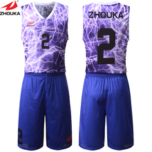 Top Quality Digital Sublimation Printing Basketball Jersey Make Unique Basketball Sets Sportswear(China)