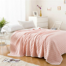 Knitted Cotton Washed Cotton Baby Adult Blankets Quilt Blankets Soft Throw on Sofa/Bed/Plane Travel Air Conditioning Blanket