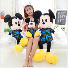 2pcs a Set 50CM plush Toys Minnie Mickey Mouse Plush Toy Doll lovers One Pair Of plush Dolls Birthday Celebration Gift